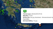 Light earthquake shakes Dodecanese island of Karpathos
