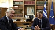 French FinMin Le Maire meets with Greek leadership in Athens; Mitsotakis to visit Paris