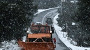 First heavy snowfall of the season in Greece; traffic, ferry route problems
