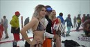 Bikini skiing event marks end of the winter season at Sochi.